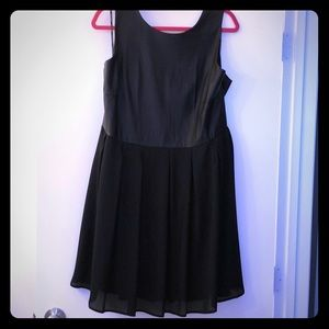 Black Forever 21 Plus Dress w Faux Leather